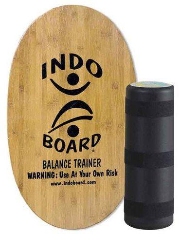 Indoboard Skate Board ORIGINAL ECO BAMBOO + MEDIUM ROLLER Natural