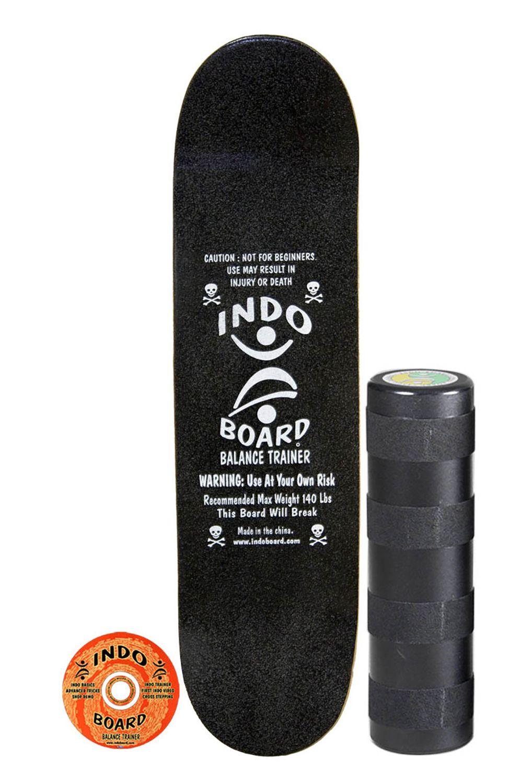 Indoboard Skate Board MINI KICKTAIL COLOR 'BLACK' + SMALL ROLLER Black