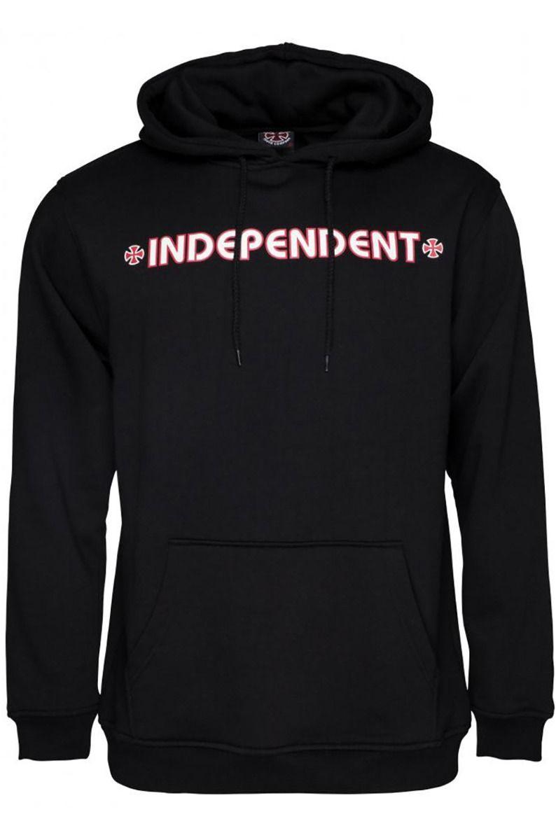 Sweat Capuz Independent BAR/CROSS HOOD Black