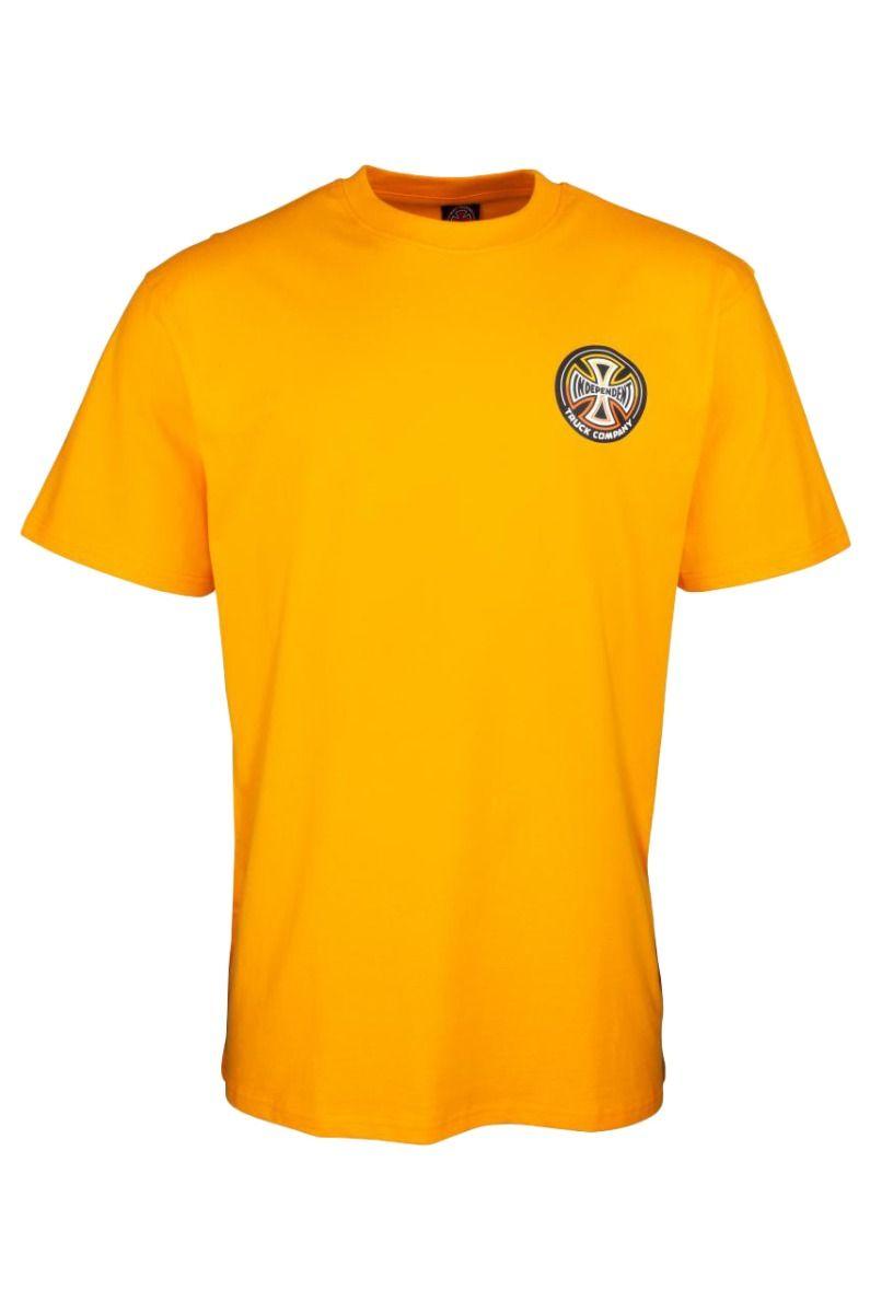 T-Shirt Independent SPLIT CROSS T-SHIRT Gold