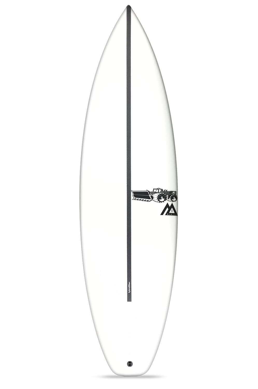 Prancha Surf JS 6'4 MONSTA 8 HYFI Squash Tail - White FCS II 6ft4