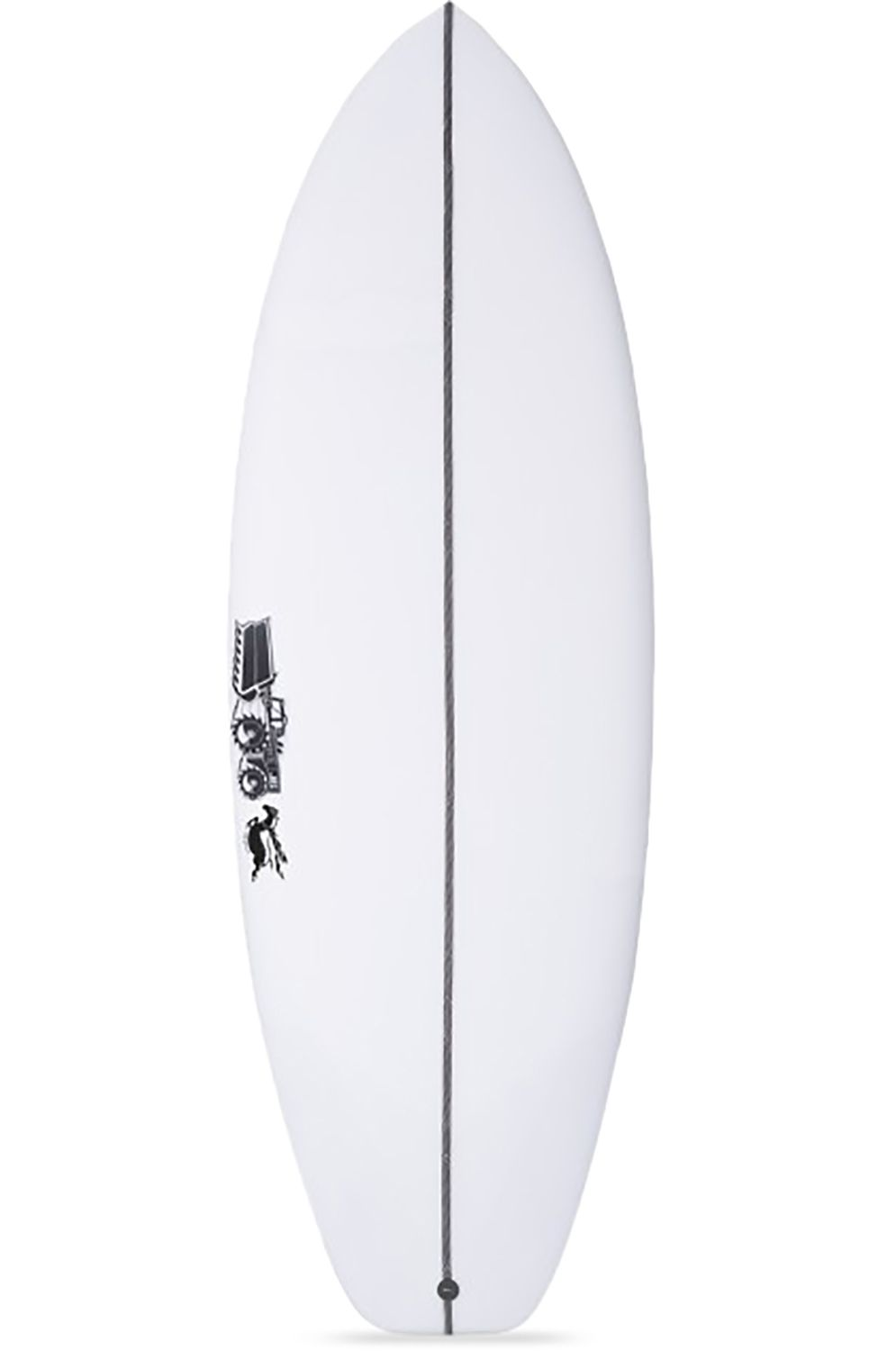 Prancha Surf JS FLAMING PONY Squash Tail - White FCS II Multisystem 5ft10