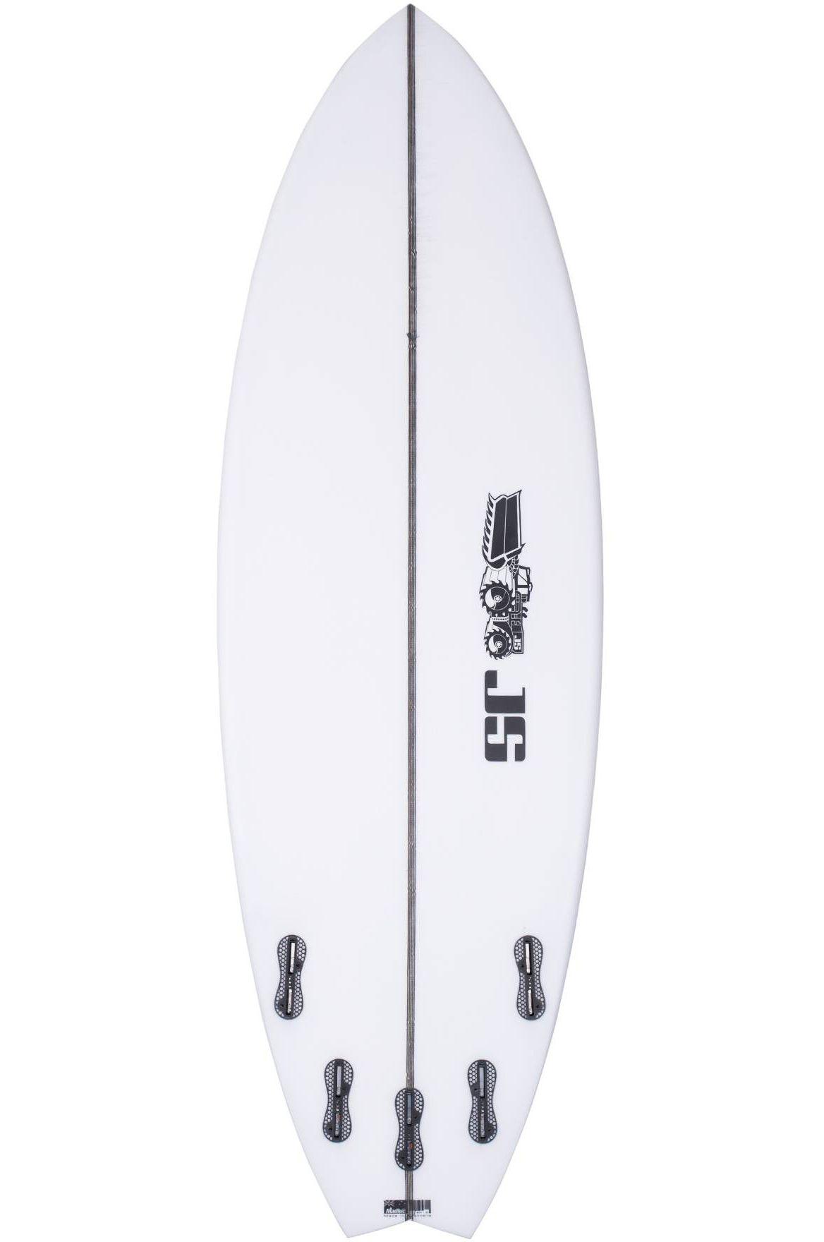 Prancha Surf JS PSYCHO NITRO 5'7 Swallow Tail - White FCS II Multisystem 5ft7