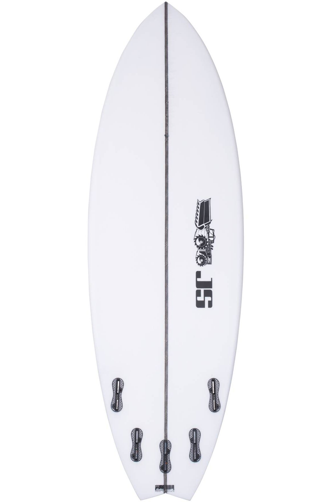 Prancha Surf JS PSYCHO NITRO 5'10 Swallow Tail - White FCS II Multisystem 5ft10