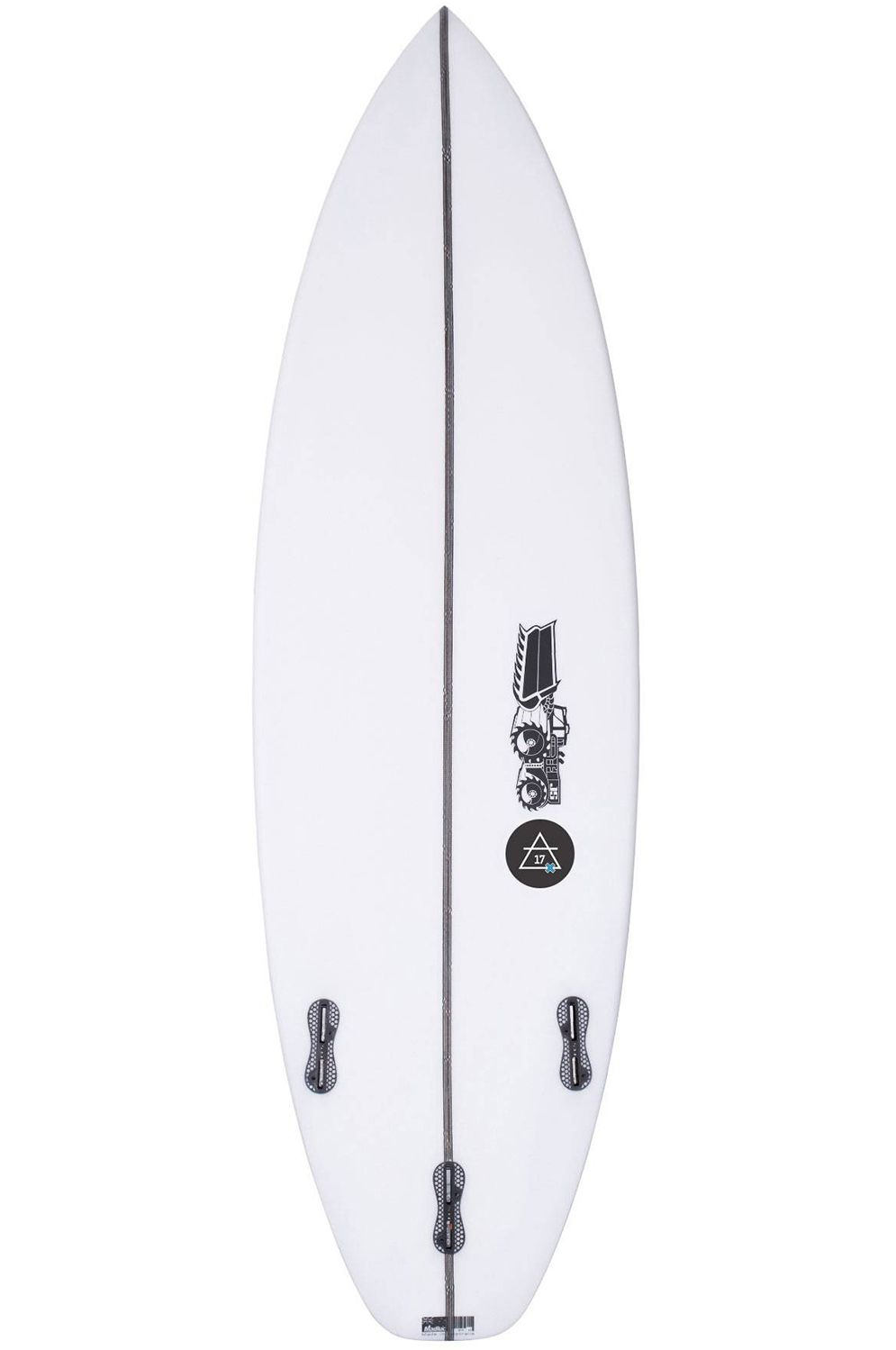 Prancha Surf JS JULIAN AIR- 17X 6'2 Squash Tail - White FCS II 6ft2