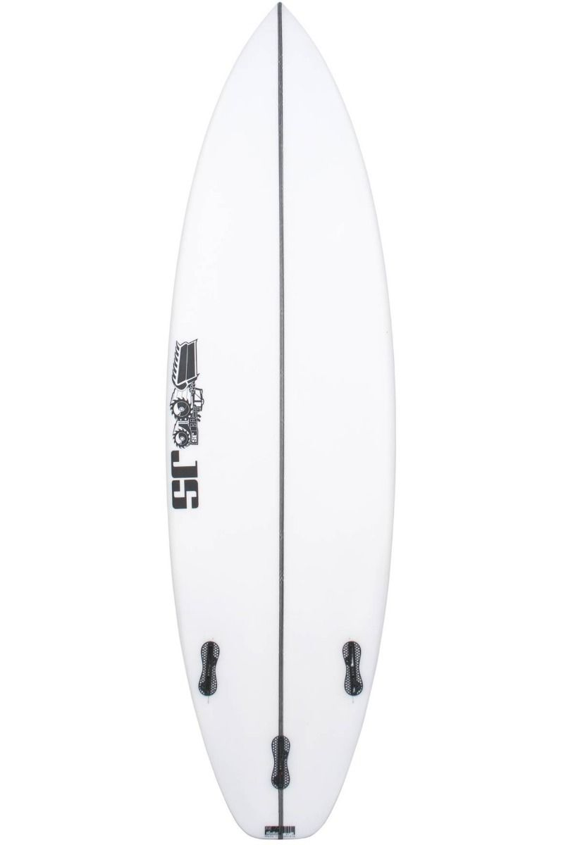 Prancha Surf JS MONSTA 8 6'4 Squash Tail - White FCS II 6ft4