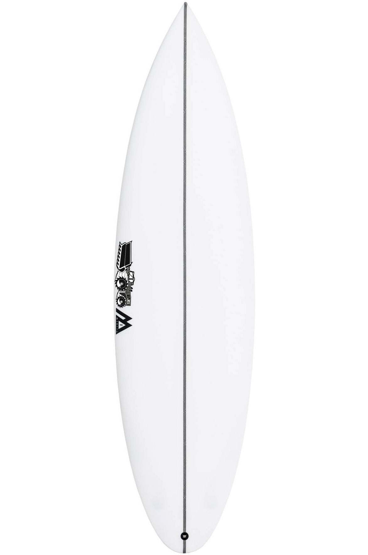 Prancha Surf JS MONSTA 8 5'8 Round Pin Tail - White FCS II Multisystem 5ft8