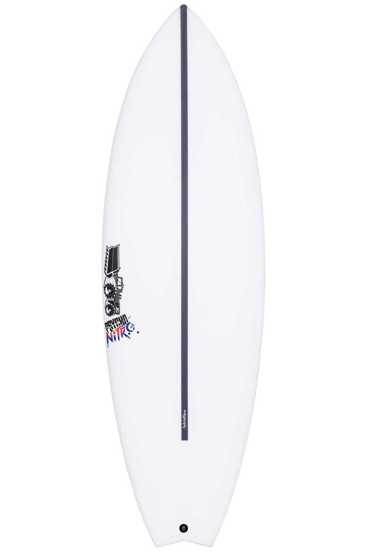 Prancha Surf JS 5'4 PSYCHO NITRO HYFI Swallow Tail - White FCS II Multisystem 5ft4