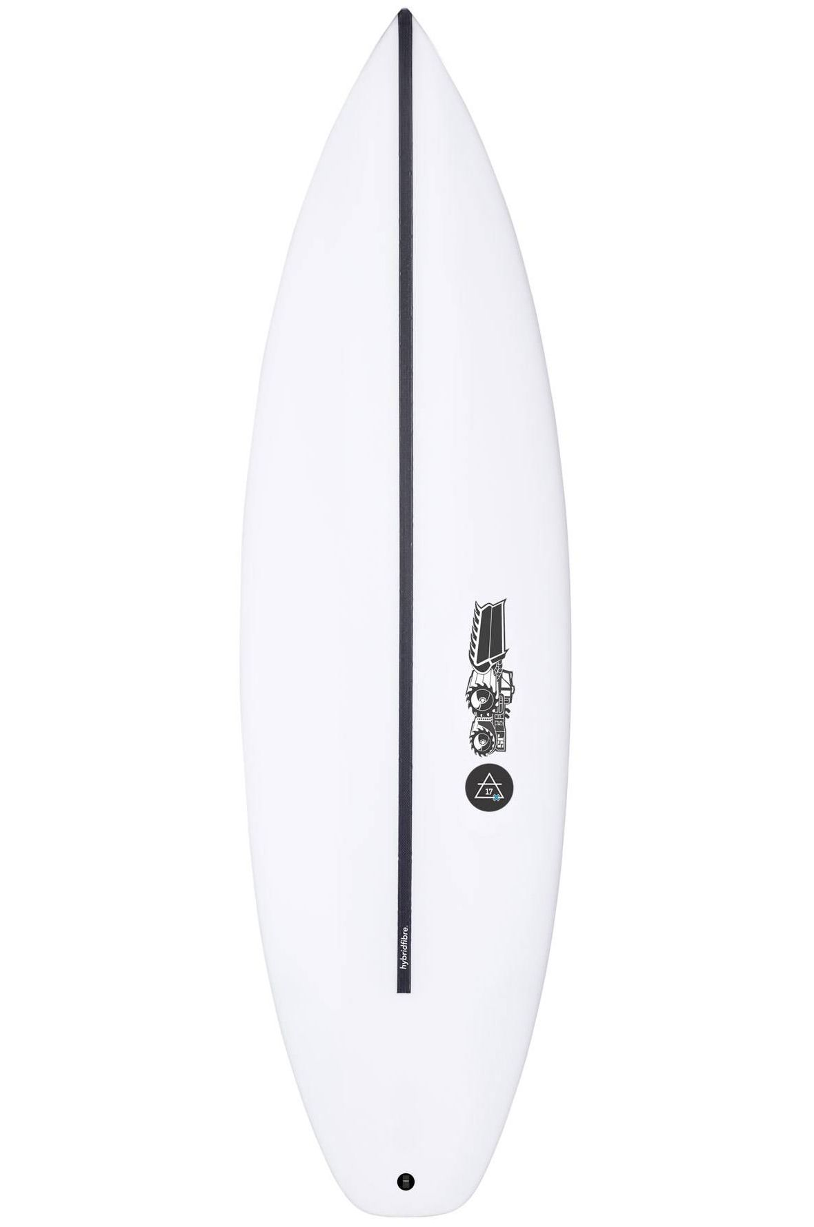 Prancha Surf JS 5'10 JULIAN AIR- 17X HYFI Squash Tail - White FCS II 5ft10