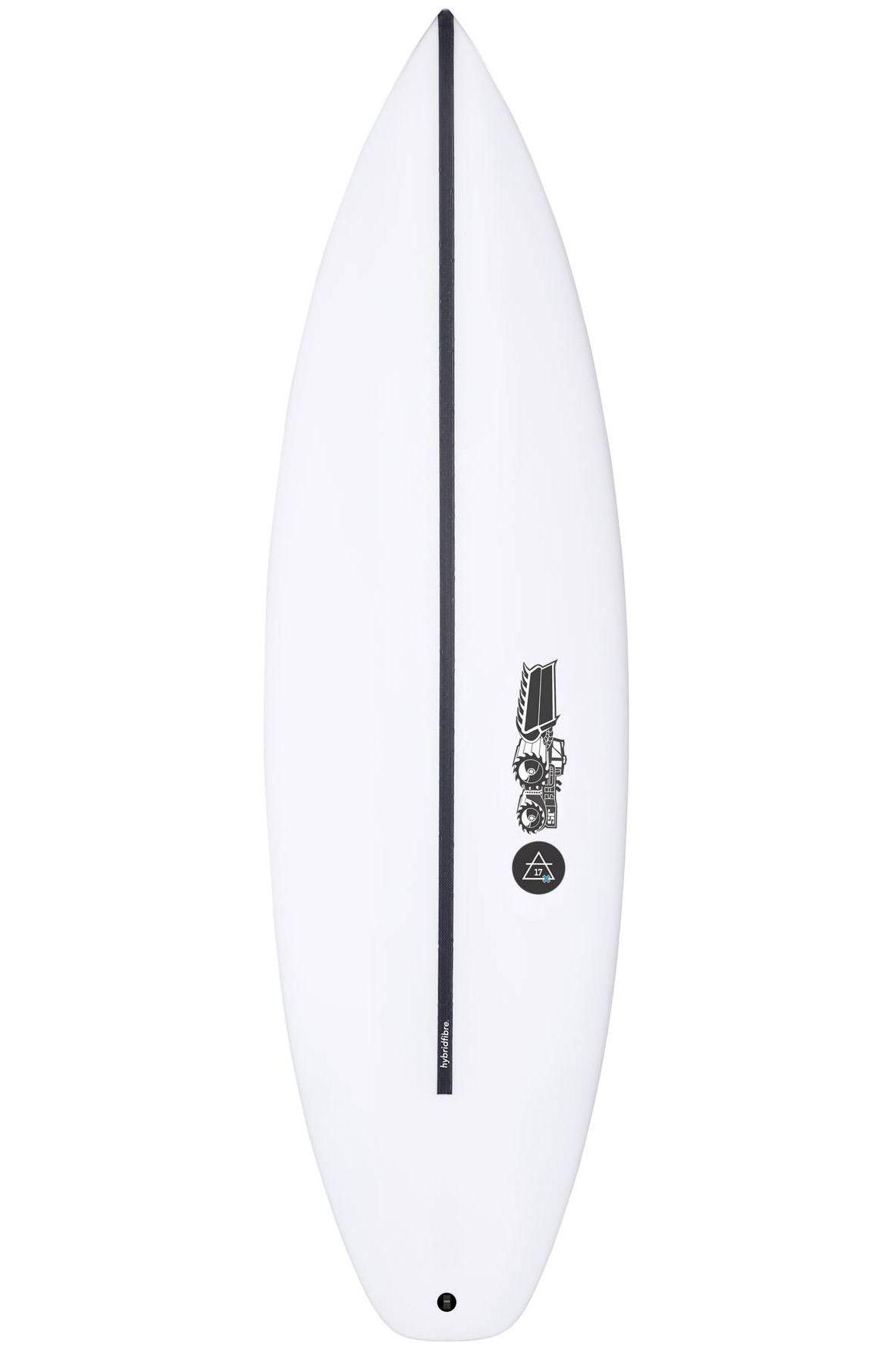 Prancha Surf JS 6'1 JULIAN AIR- 17X HYFI Squash Tail - White FCS II 6ft1