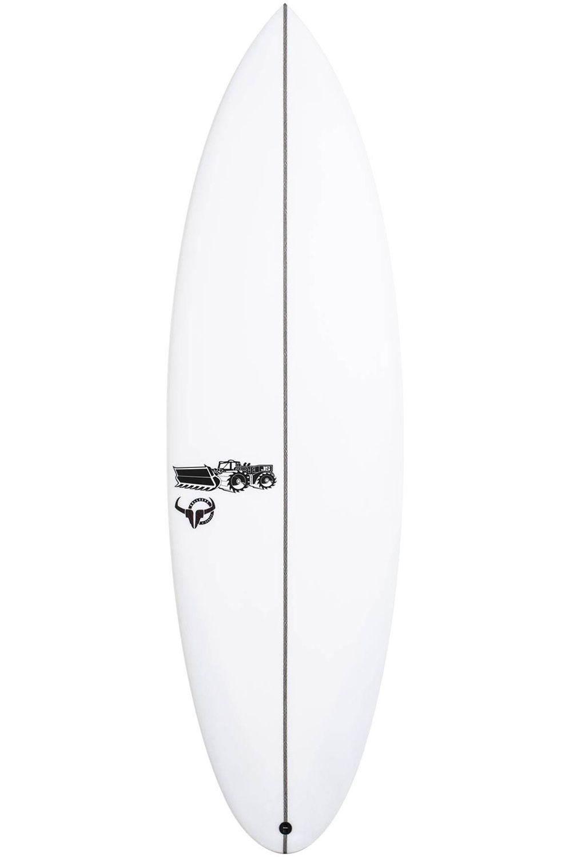Prancha Surf JS 5'8 BULLSEYE Round Tail - White FCS II Multisystem 5ft8