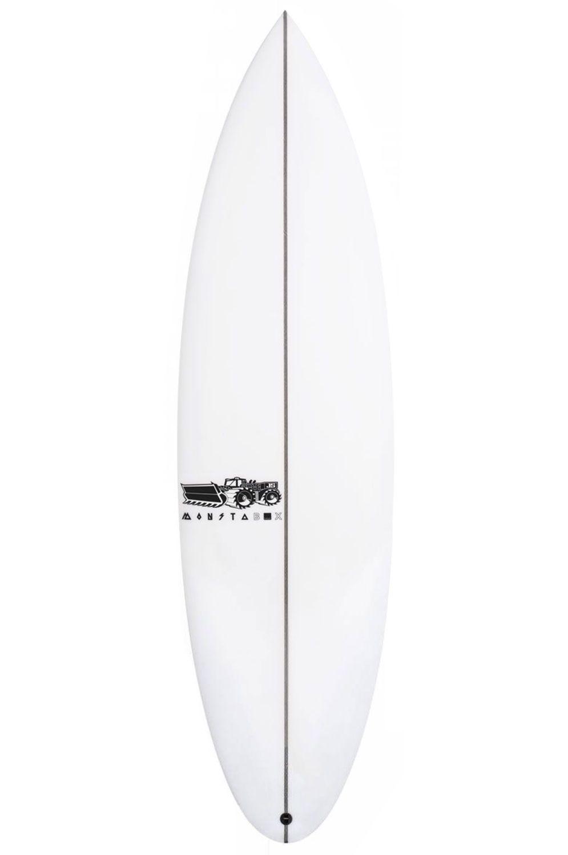 Prancha Surf JS 5'7 MONSTA BOX 2020 X-SERIES Round Pin Tail - White FCS II Multisystem 5ft7
