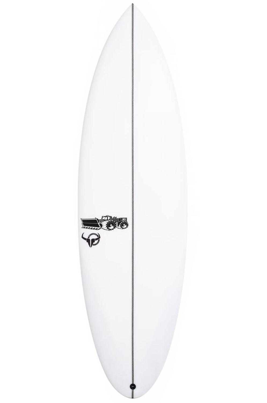 Prancha Surf JS 5'6 BULLSEYE X-SERIES Round Tail - White FCS II Multisystem 5ft6
