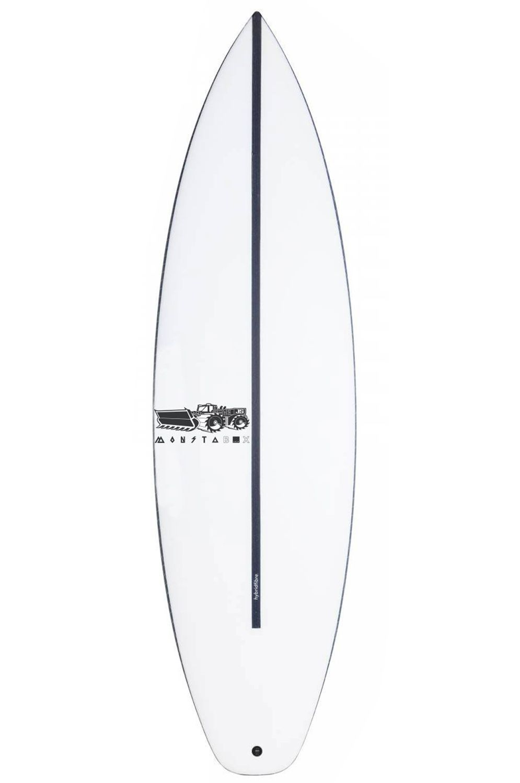 JS Surf Board 5'10 MONSTA BOX 2020 HYFI EZI RIDER Hip Squash Tail - White FCS II 5ft10