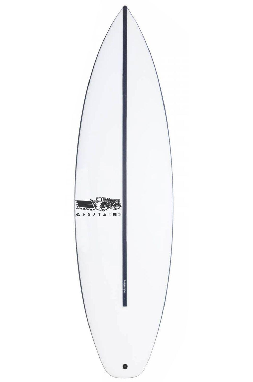 JS Surf Board 5'11 MONSTA BOX 2020 HYFI EZI RIDER Hip Squash Tail - White FCS II 5ft11