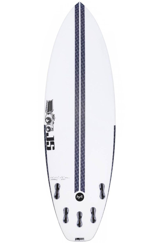 Prancha Surf JS 6'1 BLAK BOX 3 HYFI Squash Tail - White FCS II Multisystem 6ft1