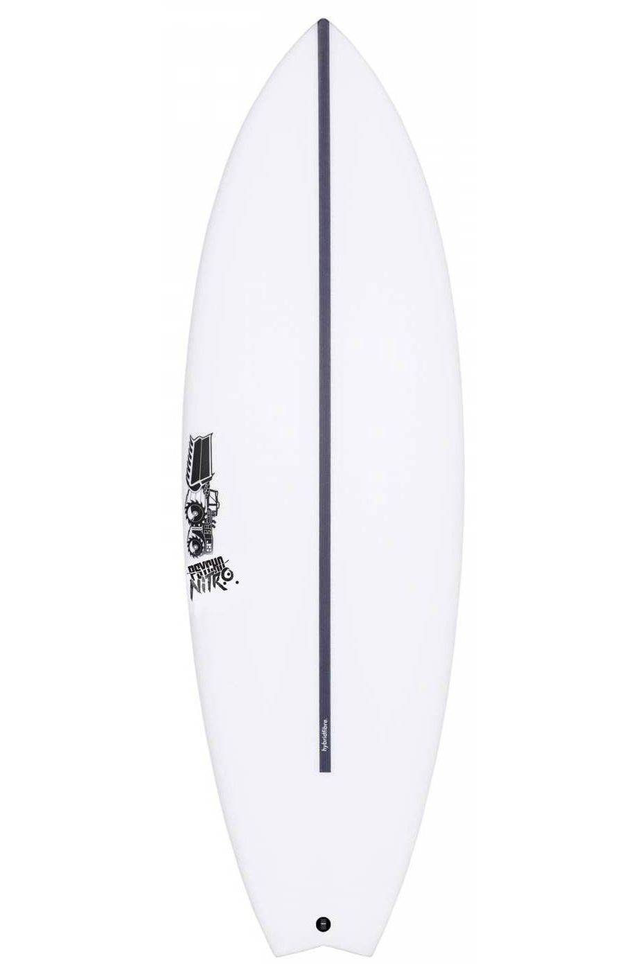Prancha Surf JS PSYCHO NITRO HYFI 6'0 Swallow Tail - White FCS II Multisystem 6ft0