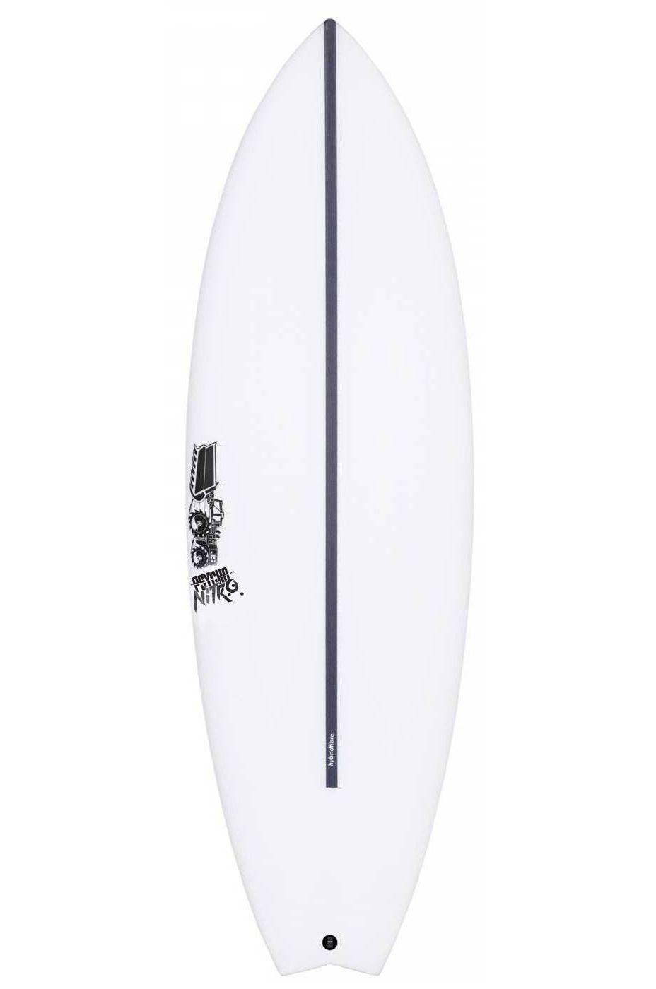 JS Surf Board 6'1 PSYCHO NITRO HYFI Swallow Tail - White FCS II Multisystem 6ft1