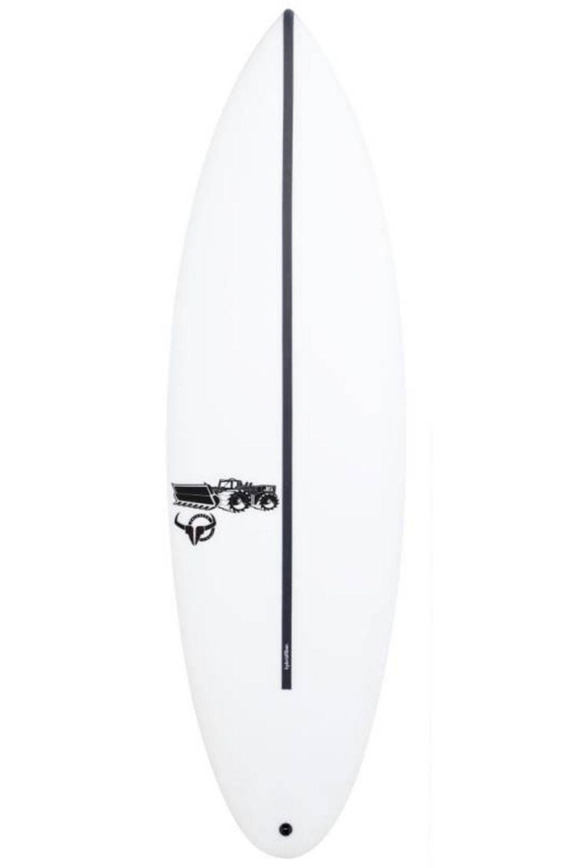 Prancha Surf JS 5'10 BULLSEYE HYFI Round Tail - White FCS II Multisystem 5ft10