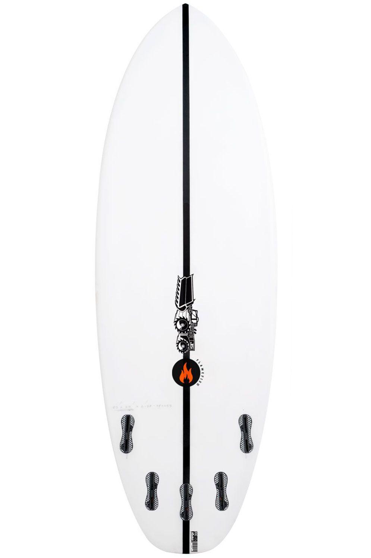 Prancha Surf JS 5'3 FLAME FISH SUMMER Squash Tail - White FCS II Multisystem 5ft3