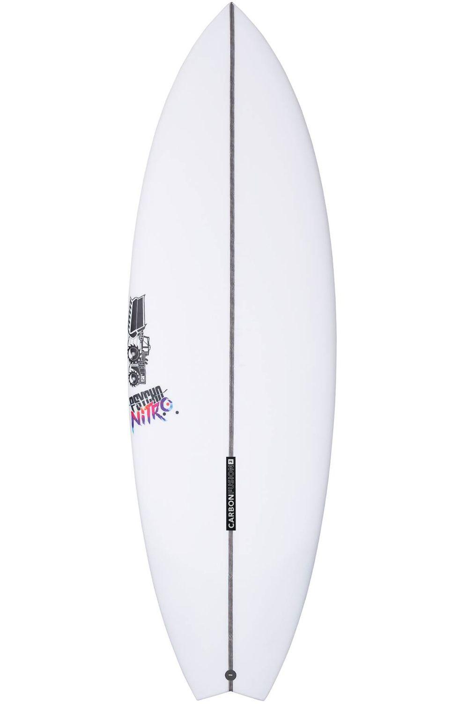 JS Surf Board 5'10 PSYCHO NITRO SUMMER PE Swallow Tail - White FCS II Multisystem 5ft10