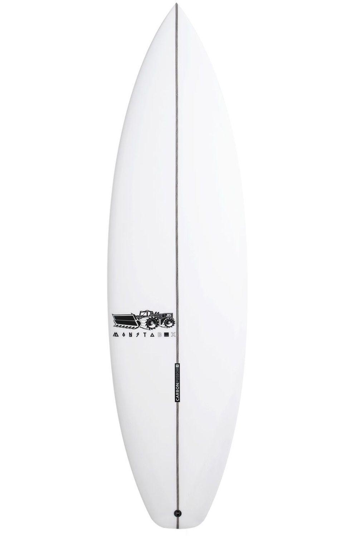JS Surf Board 5'10 MONSTA BOX 2020 EZI RIDER X SERIES PE Hip Squash Tail - White FCS II 5ft10