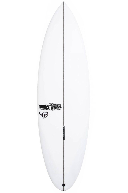 JS Surf Board 5'11 BULLSEYE X SERIES PE Round Tail - White FCS II Multisystem 5ft11