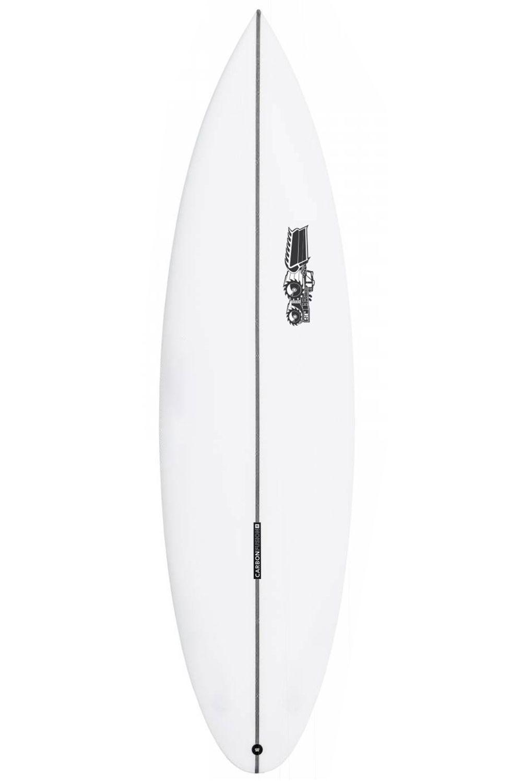 JS Surf Board 6'1 MONSTA 2020 EZI RIDER PERFORMANCE PE Round Pin Tail - White FCS II 6ft1