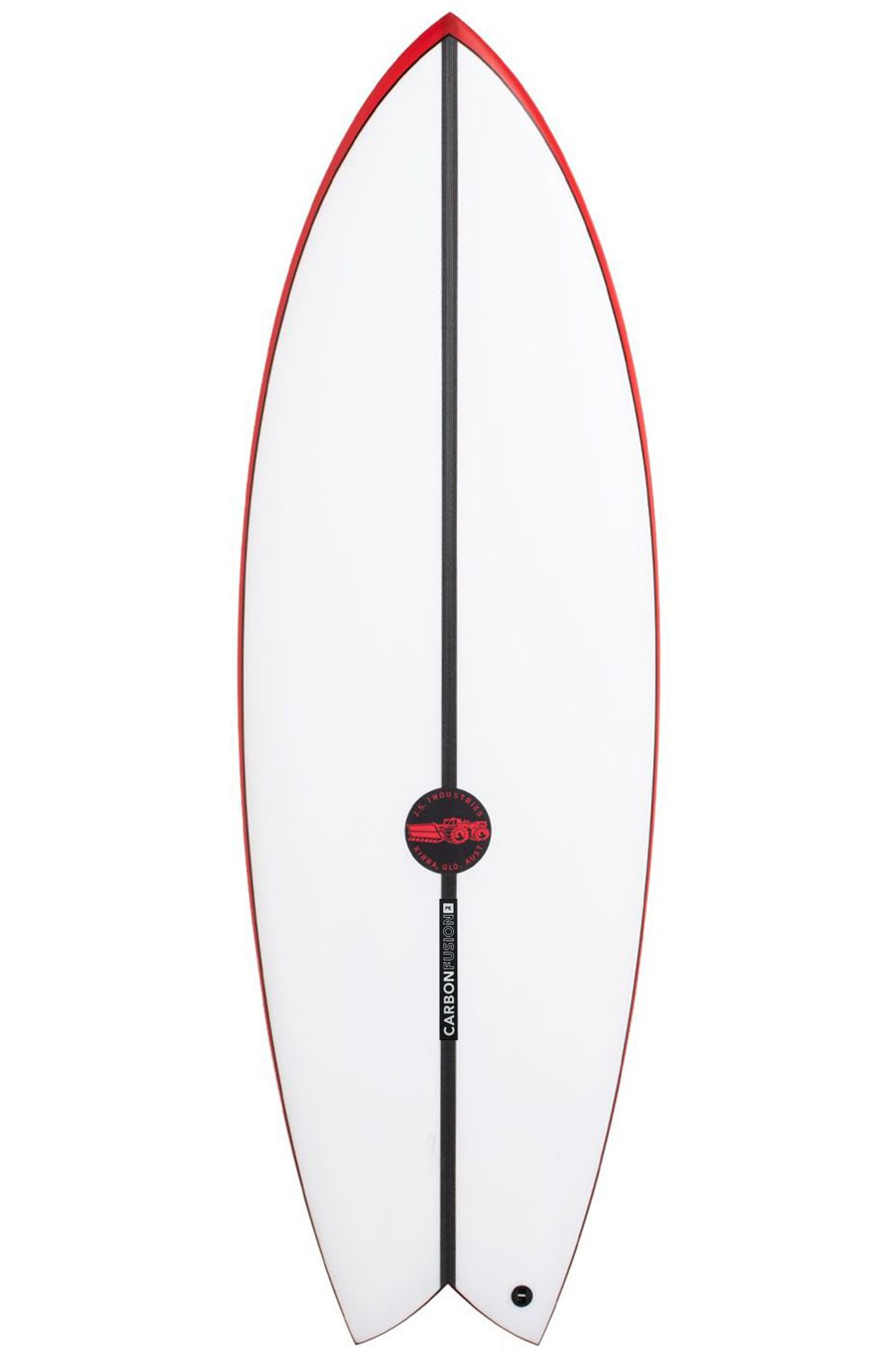 JS Surf Board 5'1 RED BARON SUMMER PE Swallow Tail - White FCS II Twin Tab 5ft1