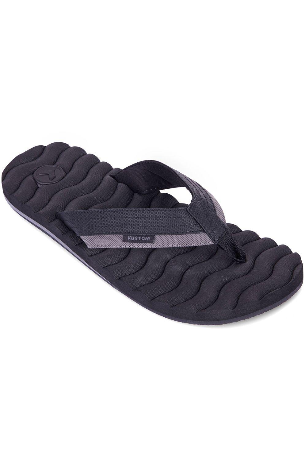 Kustom Sandals HUMMER Black Stripe