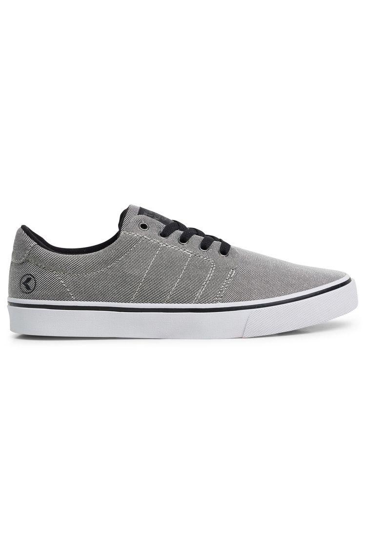 Kustom Shoes LAYDAY Grey Herringbone