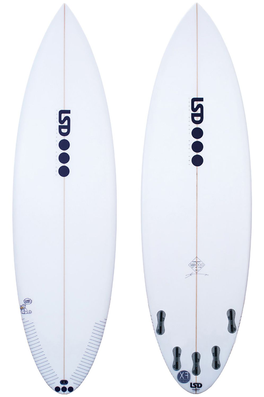 Prancha Surf Lsd CHUBBY CHEDDA 5'7 Round Tail - White FCS II Multisystem 5ft7