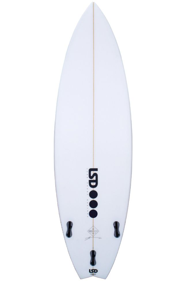 Prancha Surf Lsd NOA Swallow Tail - White FCS II 5ft10