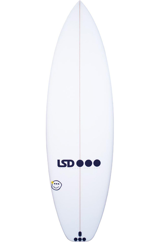 Lsd Surf Board 5'8 NOA CHLORINE THM Squash Tail - White FCS II 5ft8