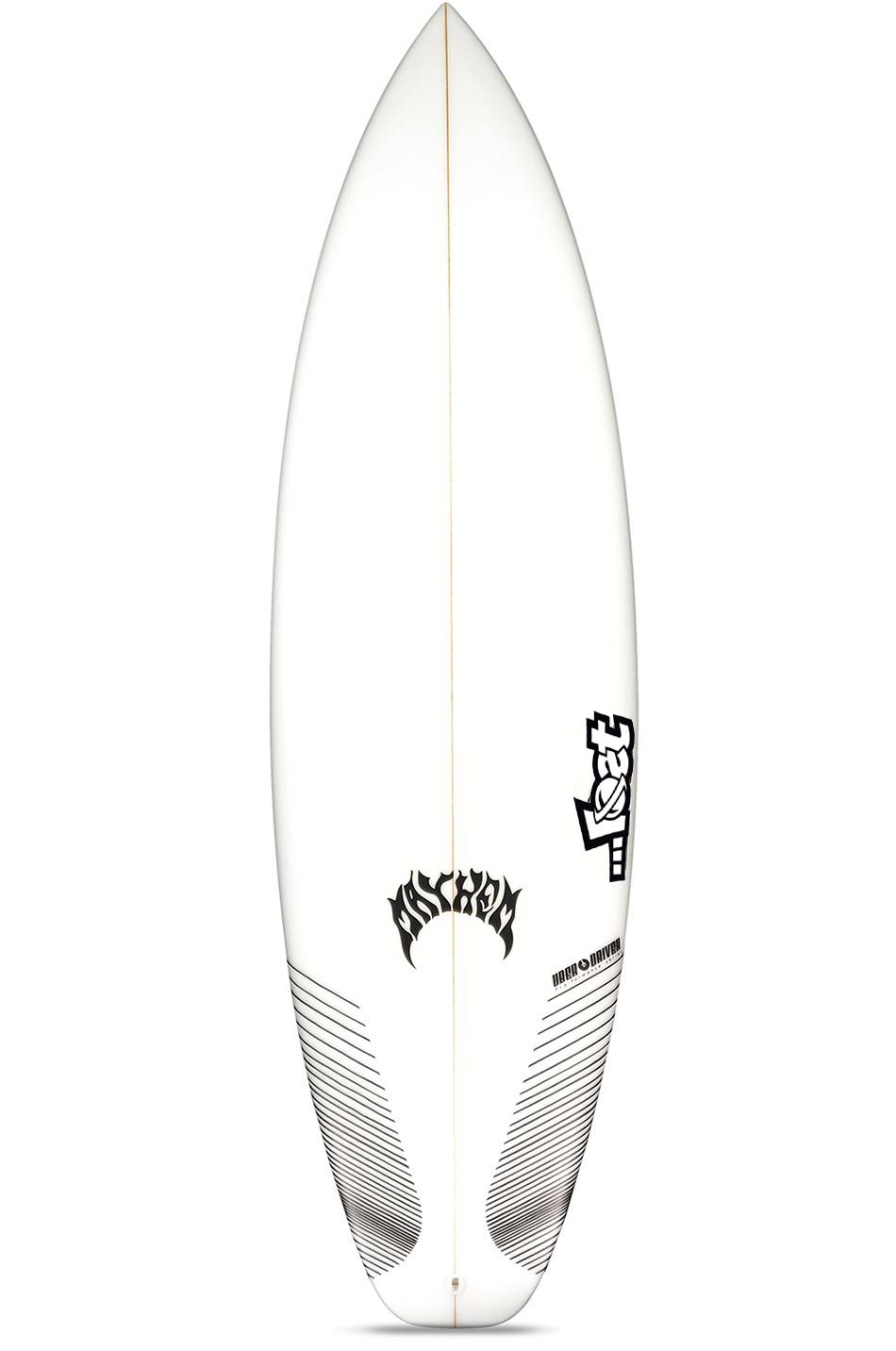 Lost Surf Board 5'7 UBER DRIVER Squash Tail - White FCS II Multisystem 5ft7