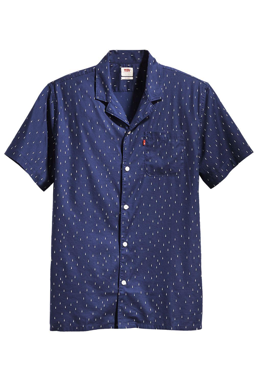 Levis Shirt S/S CLASSIC CAMPER Raindrop Blue Print