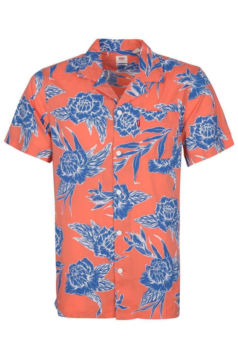 Levis Shirt S/S CLASSIC CAMPER Toile Floral Coral Quartz