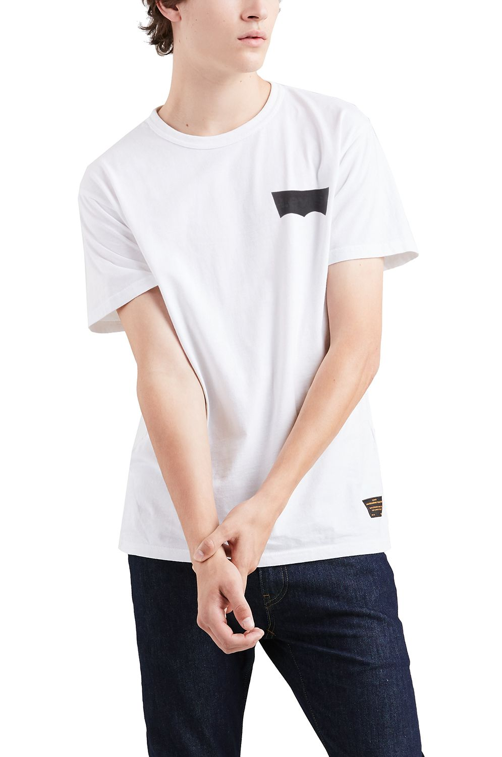 Levis T-Shirt SKATE GRAPHIC SS TEE Lsc White Core Batwing Black