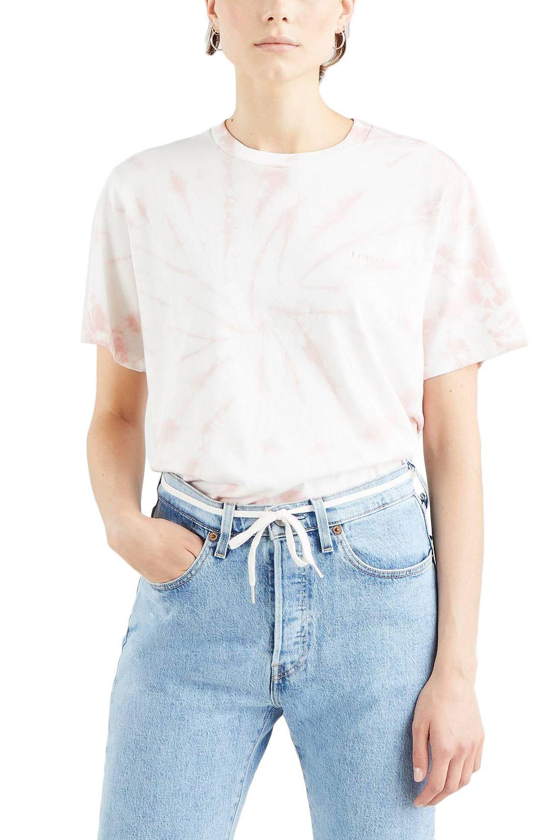 T-Shirt Levis GRAPHIC JET TEE Iris Tie Dye Dark Fa166136 Evening Sand