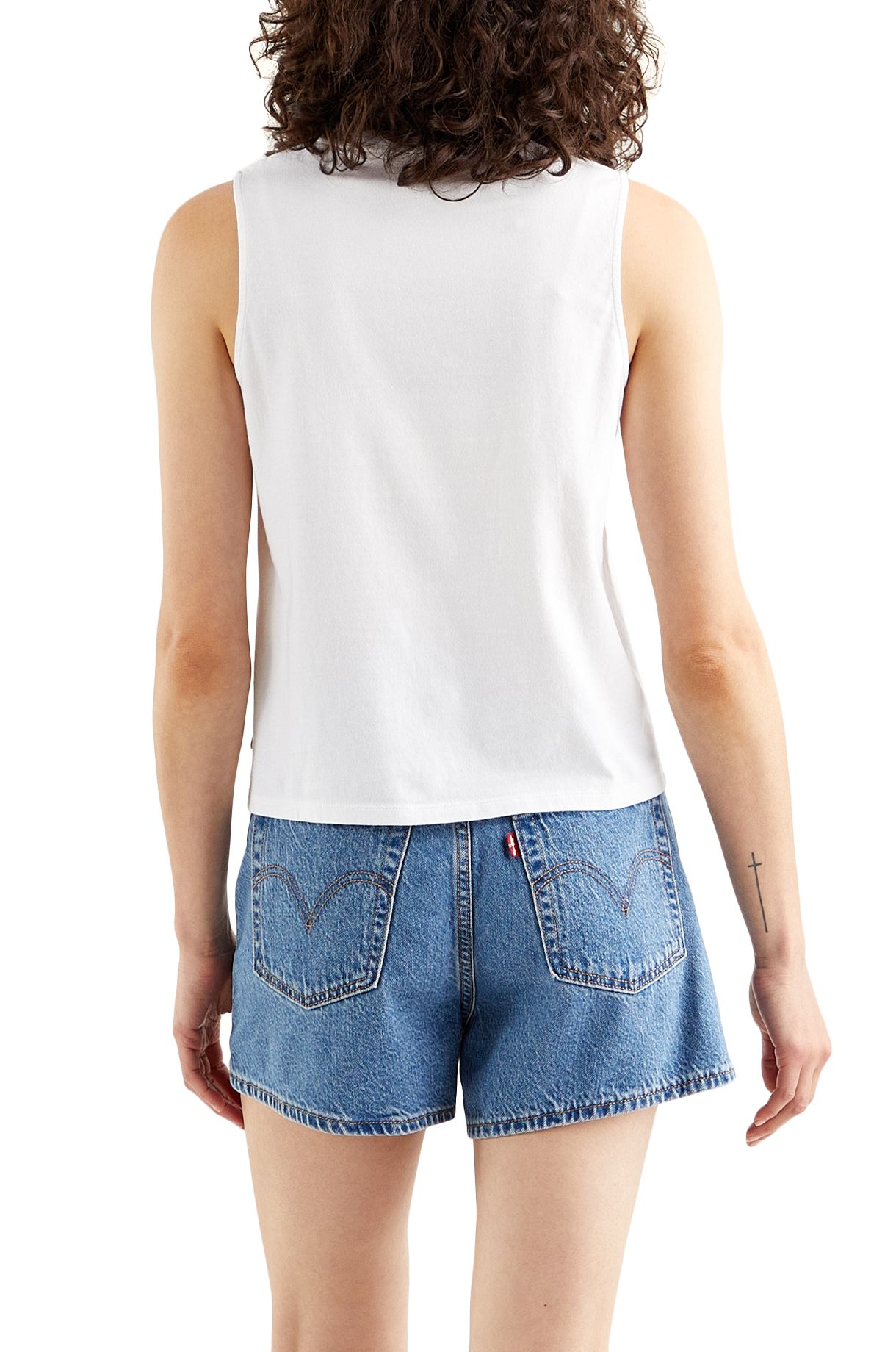 Top Levis GRAPHIC BAND TANK Batwing Band Tank White +