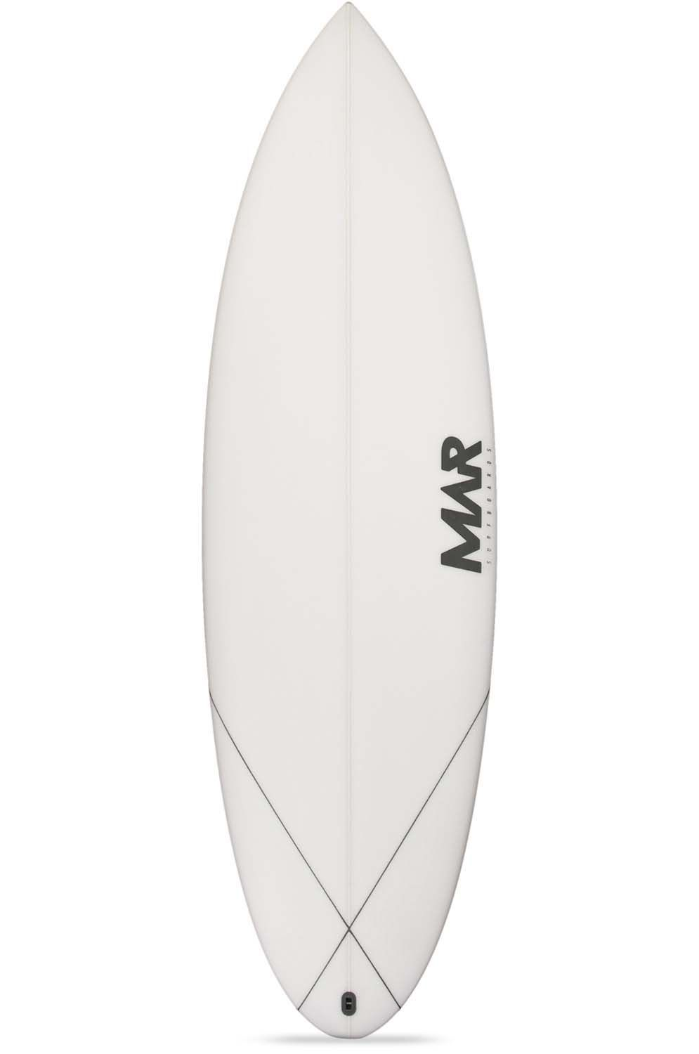 Prancha Surf Mar PARROT 5'8 Round Tail - White FCS II Multisystem 5ft8