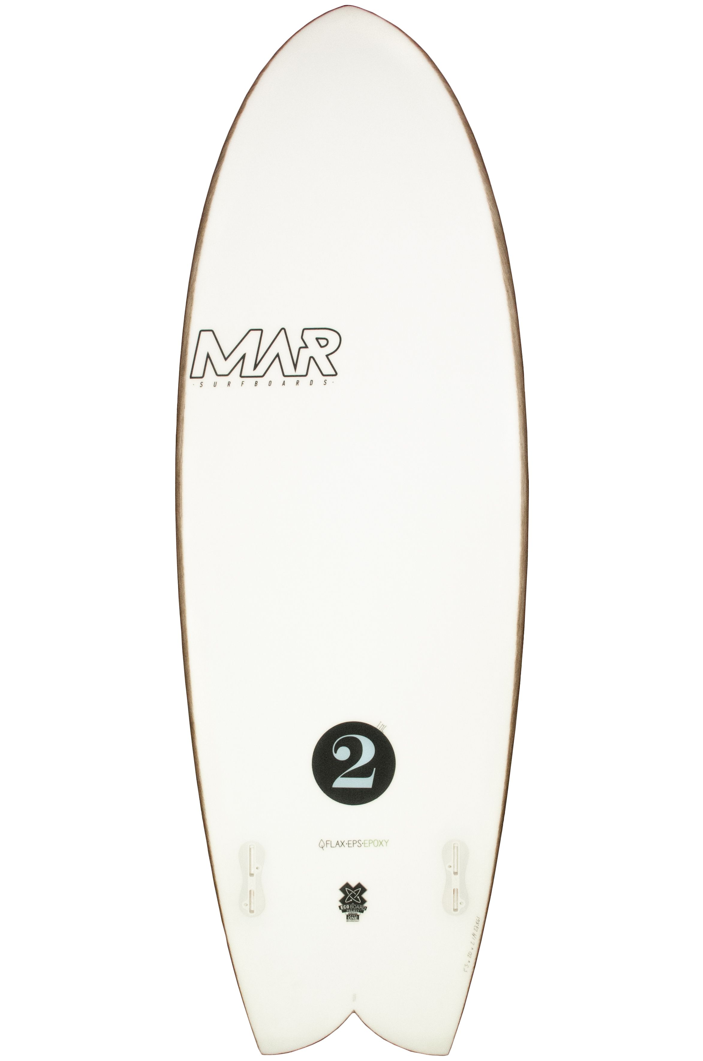 Prancha Surf Mar 5'8 THE 2 Swallow Tail - Color FCS II Twin Tab 5ft8