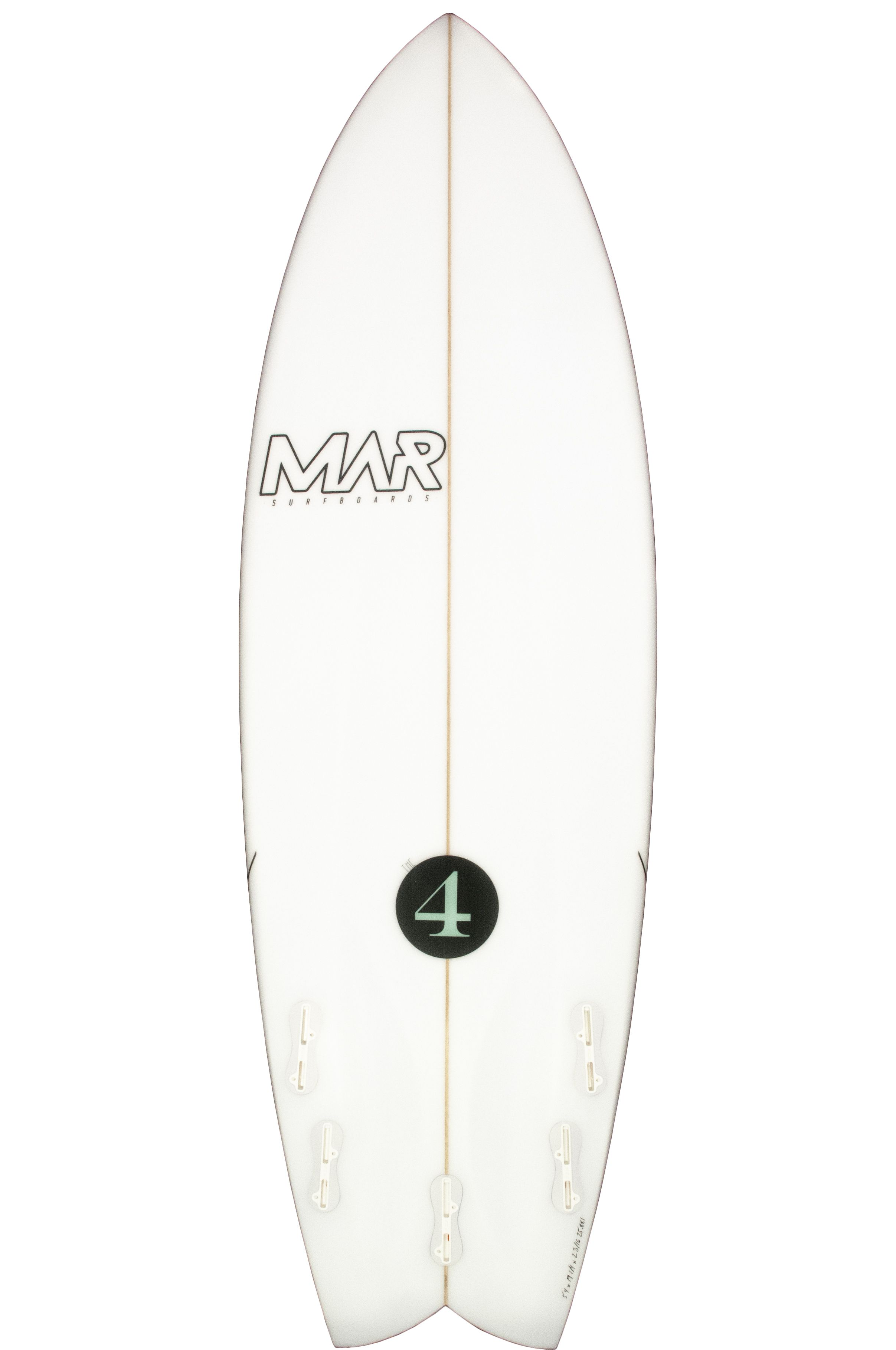 Prancha Surf Mar THE 4 Swallow Tail - White FCS II Multisystem 6ft0