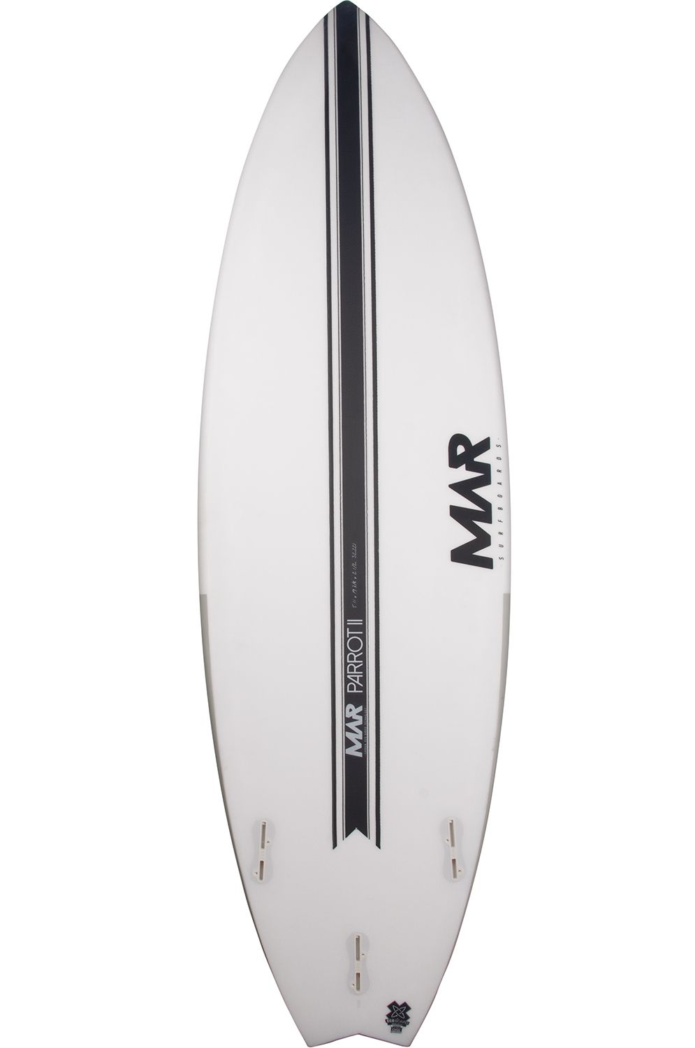 Prancha Surf Mar 6'0 PARROT II LCT Swallow Tail - White FCS II 6ft0