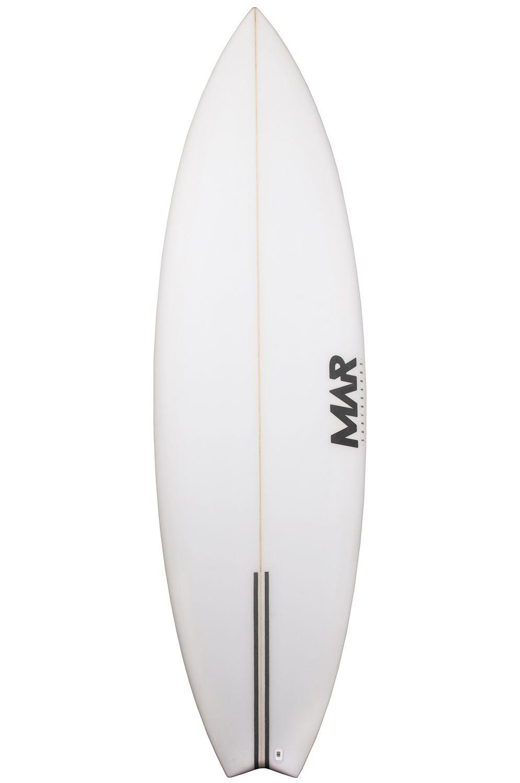 Mar Surf Board 6'4 PARROT II PU Swallow Tail - White FCS II 6ft4