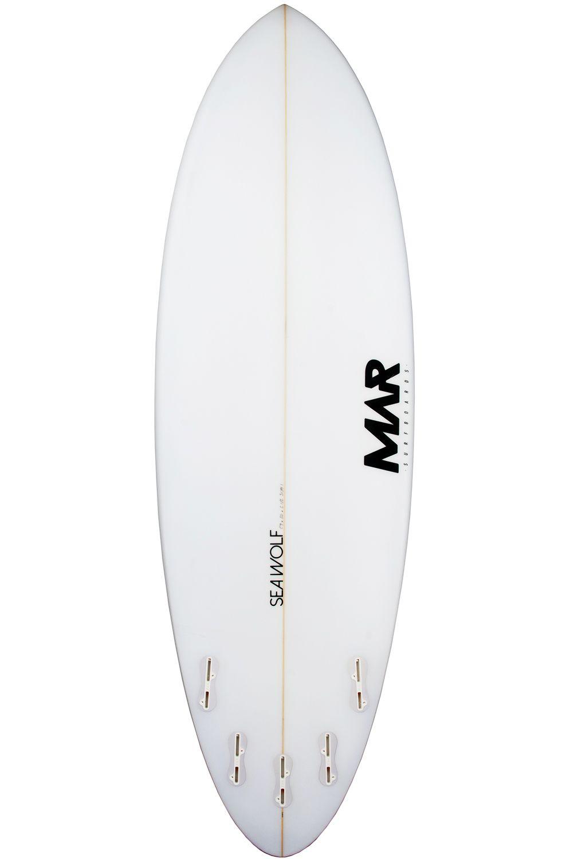 Prancha Surf Mar SEAWOLF 6'1 Round Tail - White FCS II Multisystem 6ft1