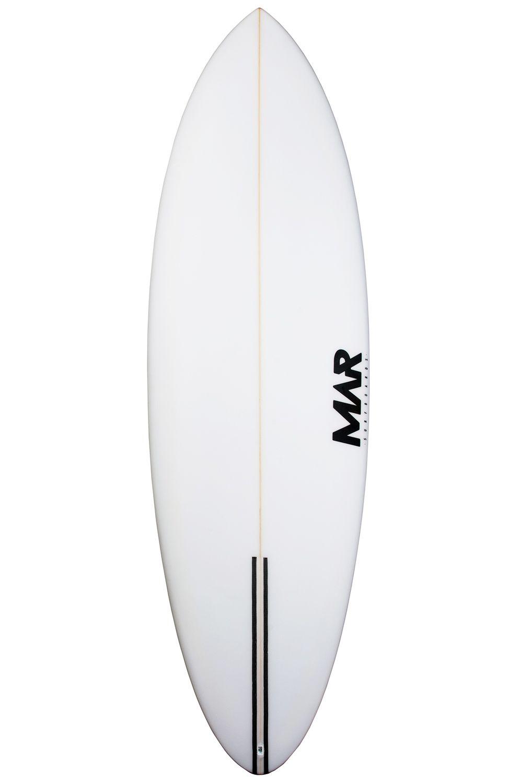Mar Surf Board 6'5 SEAWOLF PU Round Tail - White FCS II Multisystem 6ft5