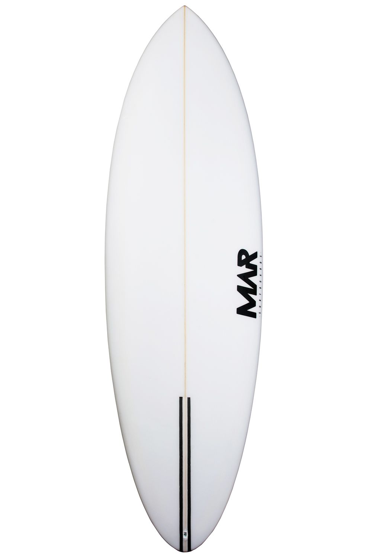 Mar Surf Board 7'2 SEAWOLF PU Round Tail - White FCS II Multisystem 7ft2