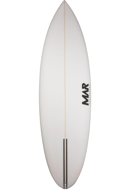 Mar Surf Board 7'2 CRUISER PU Round Tail - White FCS II 7ft2