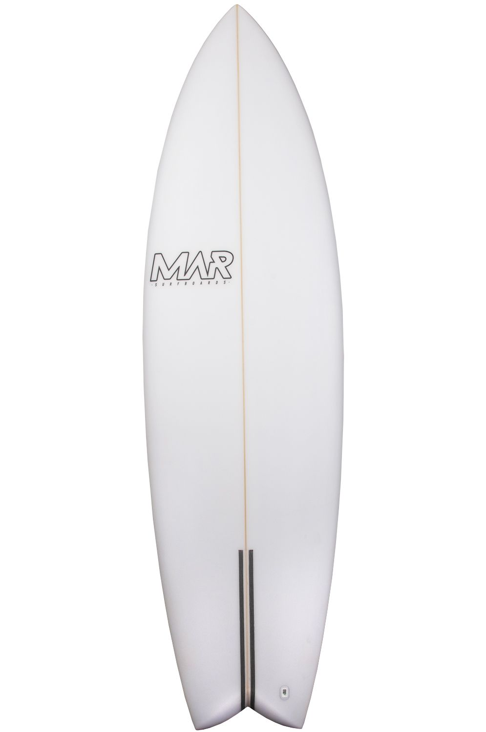 Mar Surf Board 6'4 THE 4 PU Fish Tail - White FCS II Multisystem 6ft4